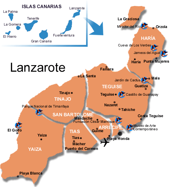 MapaGeneralLanzarote